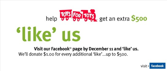 Toys for Tots Facebook Contest