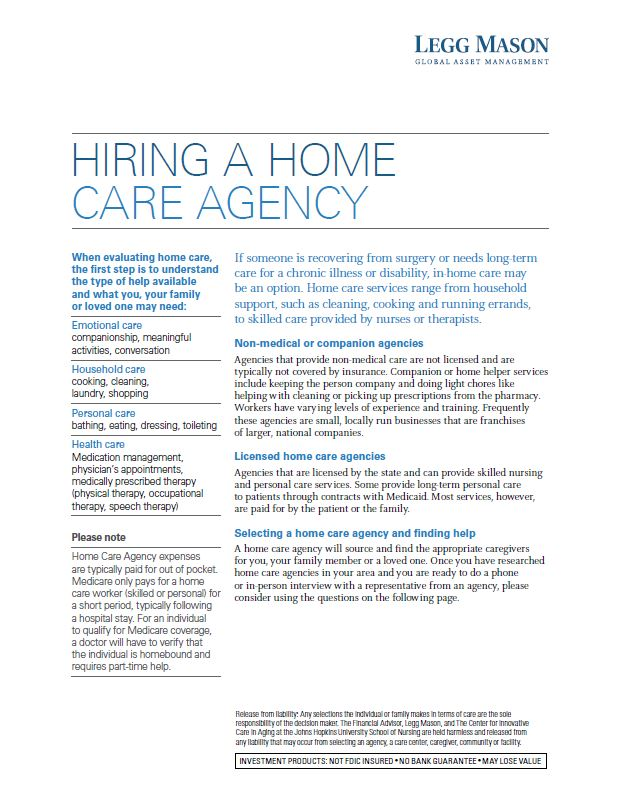 Hiring Home Care Agency