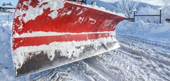 snow plowing completed operations